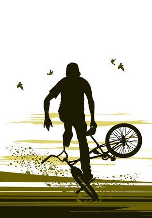umschwung: extreme biker macht Umkehr Fahrrad