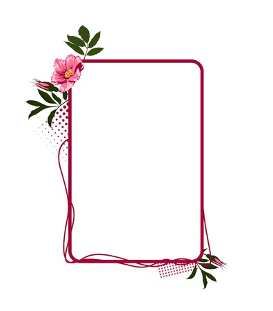 rose flower frame Vector