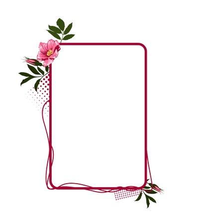 rose flower frame 向量圖像