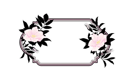 Vintage roses oval frame Stock Vector - 13920266