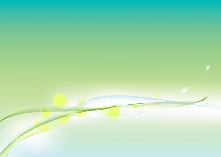 Abstract green template