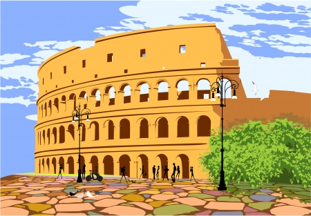 ancient rome: Monument of ancient Rome Colosseum