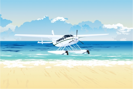 seaplane on the beach