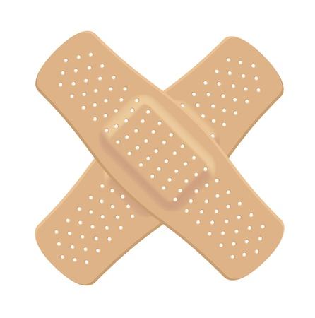 gu�rir: Band aid Croix de couleur chair