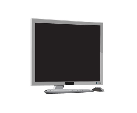 monitor from a desktop computer Stock Vector - 13914375
