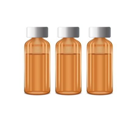 three bottles of medicine with caduceus symbol Stock Vector - 13921265