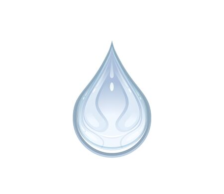 sweat: Vector illustration of a water drop Illustration