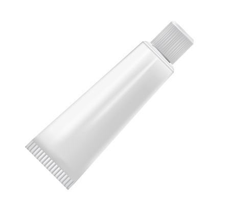 Cream tube isolated on white background Stock Vector - 13920751