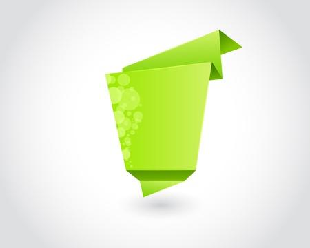 green triangle square design elements Stock Vector - 13920437