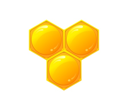 hives: Honeycomb vector Illustration