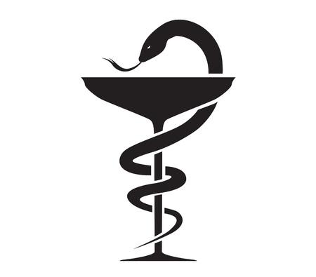 상징: 신들의 사자 기호와 약국 아이콘