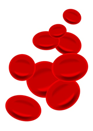 blood cell: red antibodies