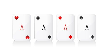 poker card: set of four cards with aces