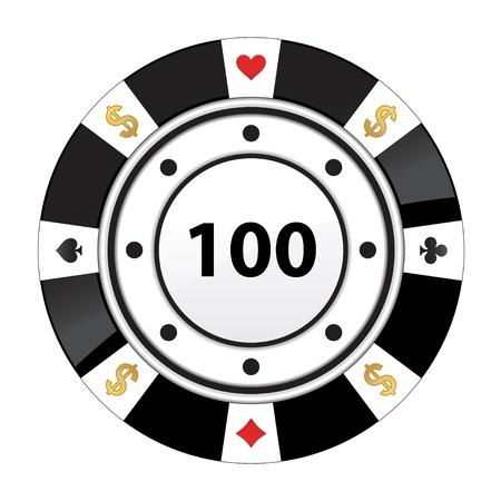 cartas de poker: chip especial de póquer negro