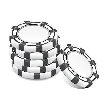 ruleta de casino: pila de fichas negras