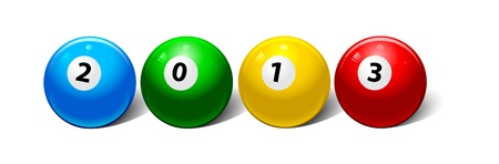 two thousand: two thousand thirteenth year in the form of billiard balls