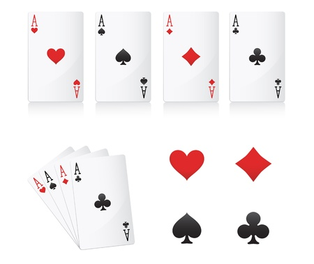 jeu de carte: cartes de poker d'as mis