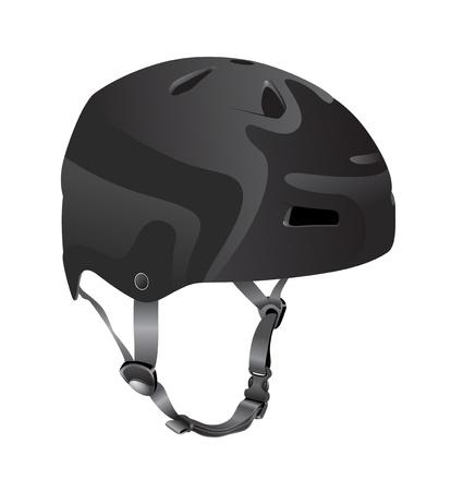 bicycle helmet: black cycling helmet