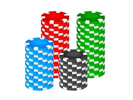 poker chip: Casino chips Illustration