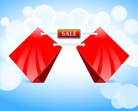 red shopping bags Sale Vector