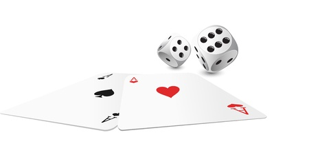 craps: two aces and white dice