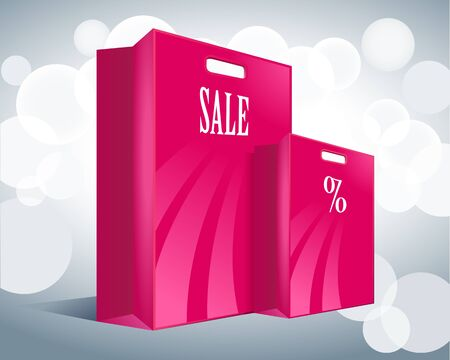 two pink package sales Vector