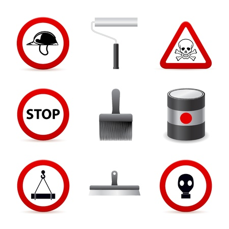 danger building icons Stock Vector - 15651930