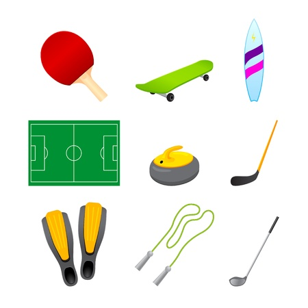 different sport items icon Stock Vector - 15651938