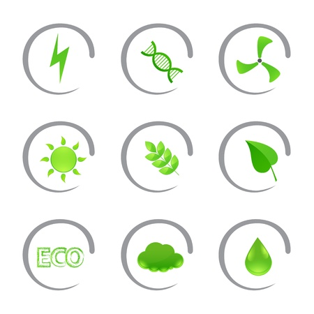 Ecological and environmental icons Vector