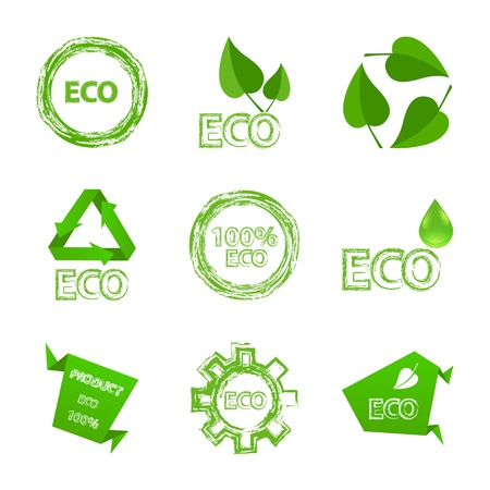 eco logo: Ecology icon set