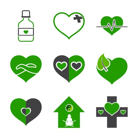 health-care and ecology symbols Vector