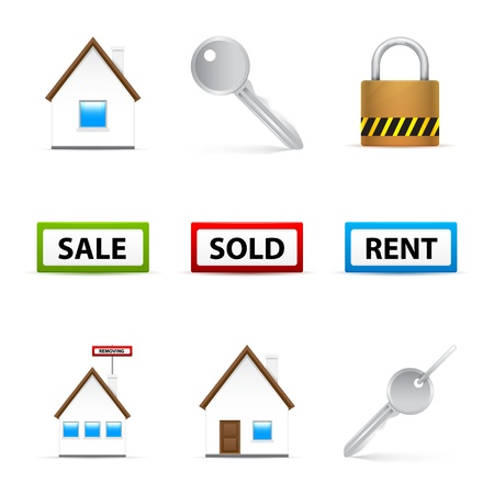 Real Estate Icon Set Stock Vector - 15651944