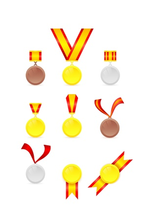 set of golden tags Vector