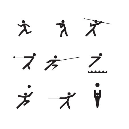 winter sport: sport logo silhouettes Illustration
