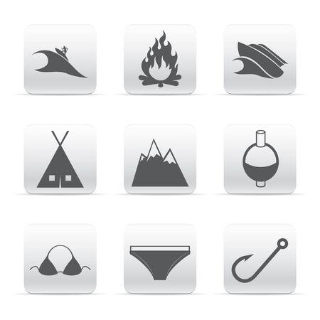 Travel set of logos Stock Vector - 15651317