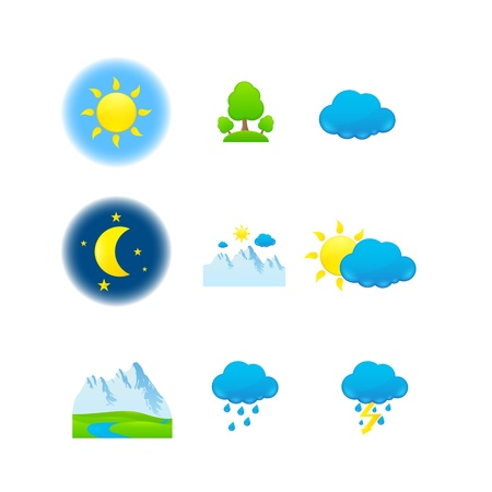 weather  nature icons Stock Vector - 15651957