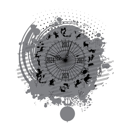 astrology calendar clock background