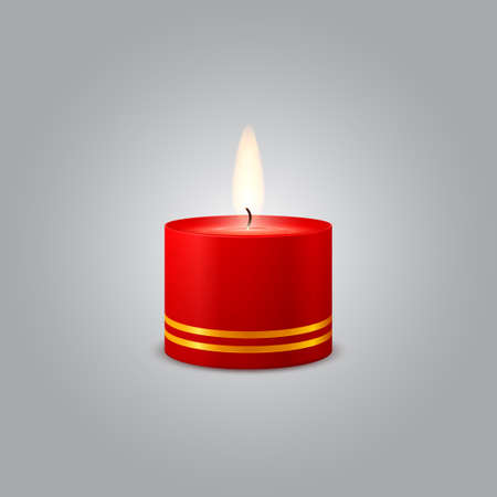Red Christmas Candle Stock Vector - 16386429
