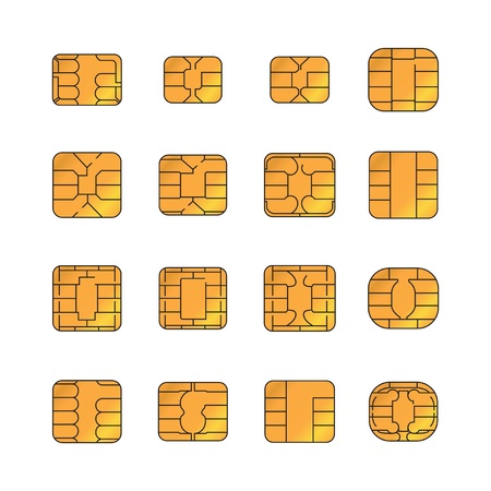micro chip: Sim card set