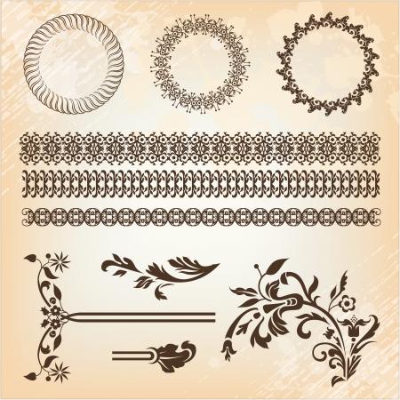 set of beautiful design elements Vector
