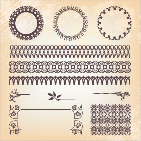 vintage style, ornate design ornaments and page decoration Vector