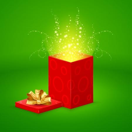 goldy: Magia Abrir caja de regalo Vectores