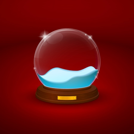 snowdome: snow-dome or crystal ball Illustration