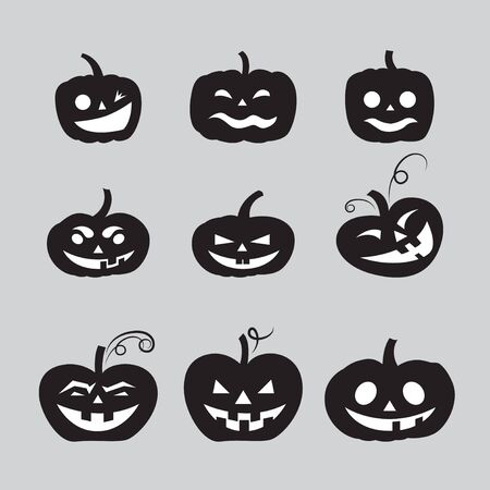 halloween pumpkin icons Stock Vector - 16956597