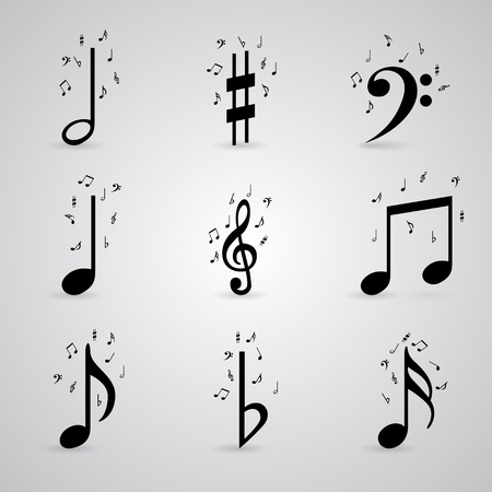Icons set music note