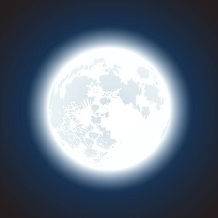 moon background Stock Vector - 16956608