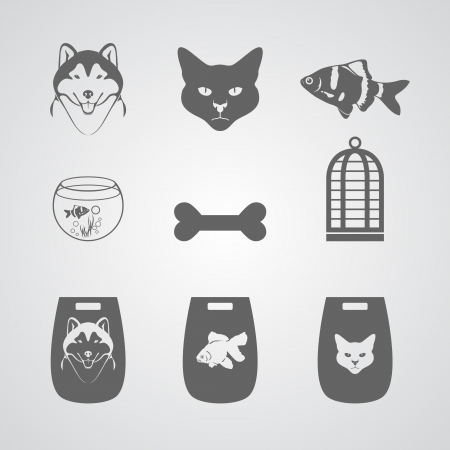 Set Icon for Pets-shop Vector