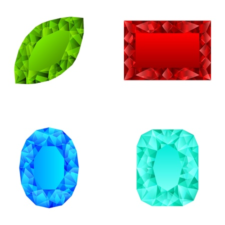 precious stone: Crystals Illustration