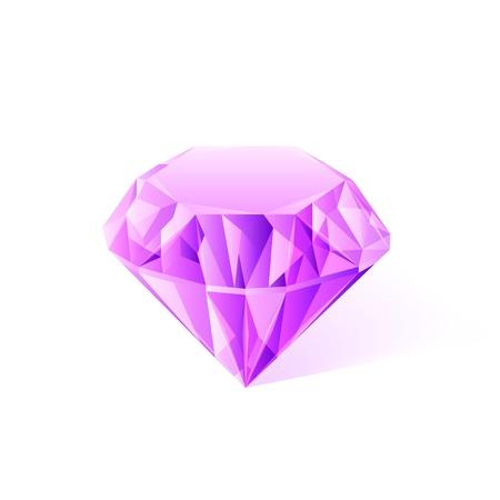 amethyst: shiny pink amethyst