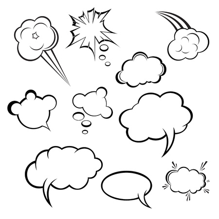 collection of comic style speech bubbles